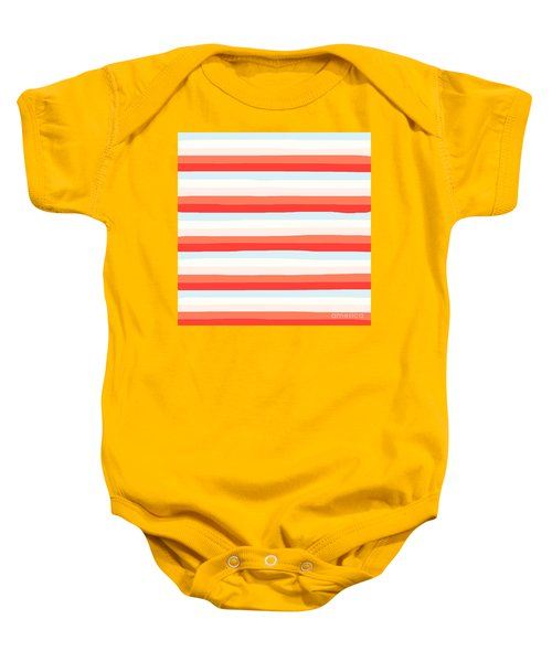 lumpy or bumpy lines abstract and colorful - QAB266 Baby Onesie
