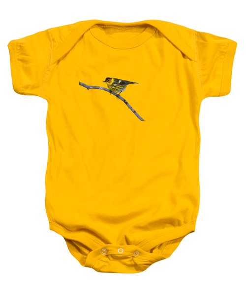 Male Cape May Warbler Baby Onesie