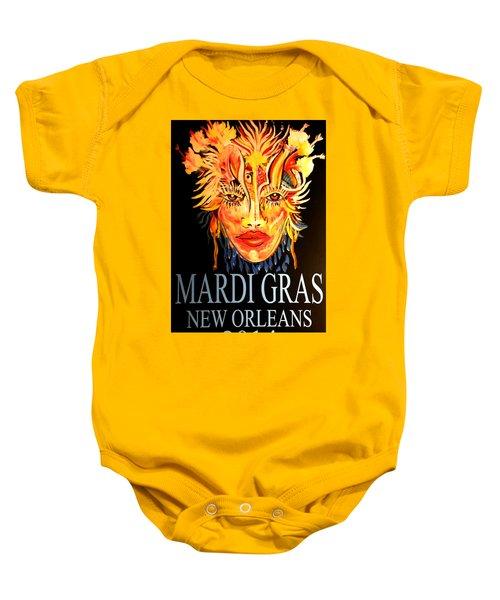 Mardi Gras Lady Baby Onesie