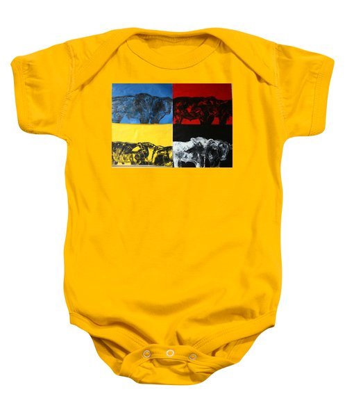 Mooving Out Of Our Land Baby Onesie