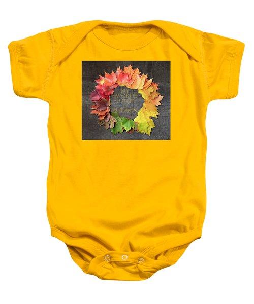 My Favorite Color Is Autumn Baby Onesie