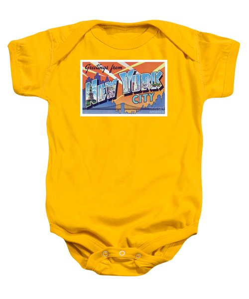 New York City Greetings - Version 2 Baby Onesie