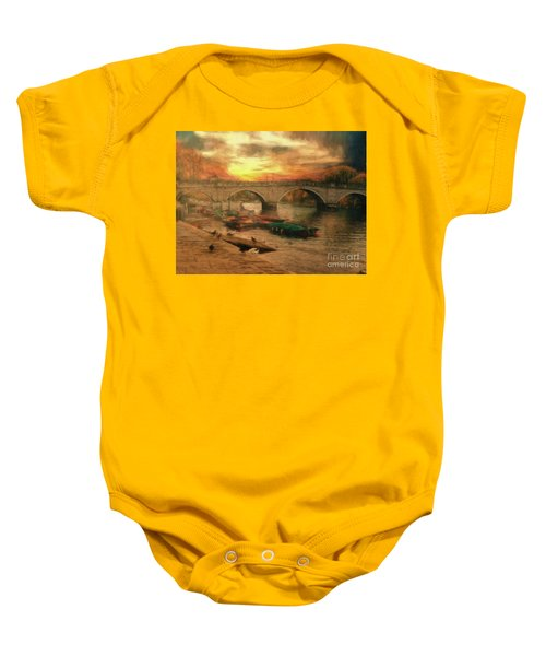 Once More To The Bridge Dear Friends Baby Onesie