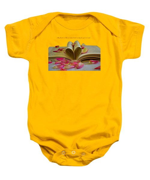 Open Book Baby Onesie