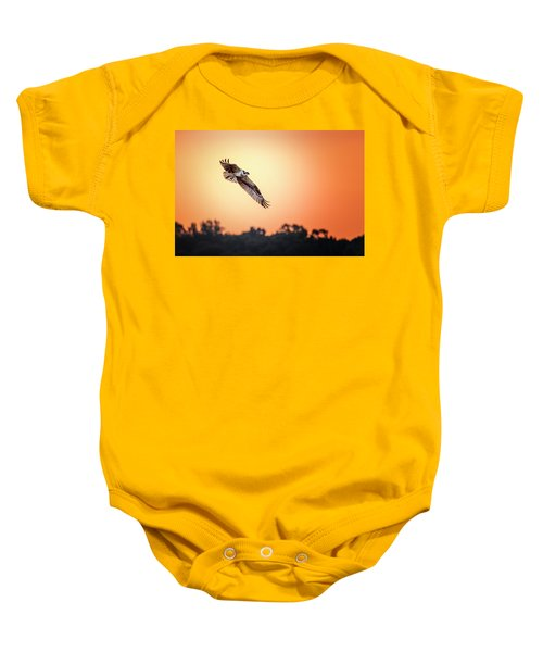 Osprey At Sunrise Baby Onesie