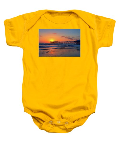 Pacific Beach Pier Sunset Baby Onesie