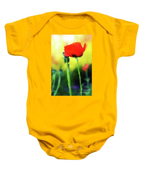 Painted Poppy Abstract Baby Onesie