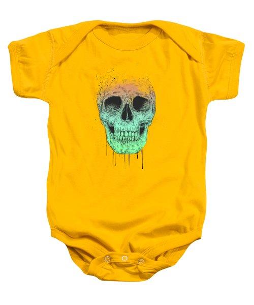 Pop Art Skull Baby Onesie