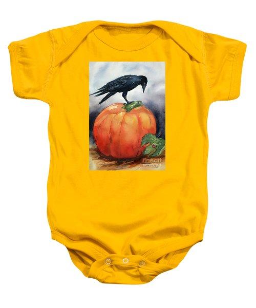 Pumpkin And Crow Baby Onesie