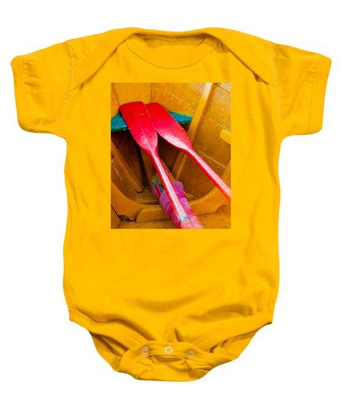 Red Oars Baby Onesie