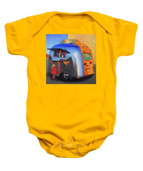 Reflections On An Airstream Baby Onesie