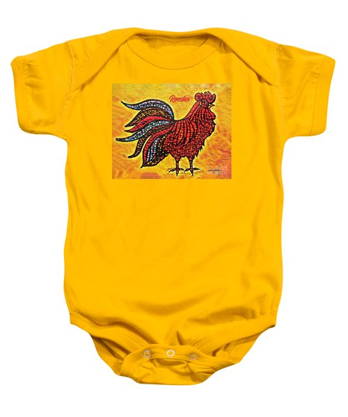 Rooster In The Moring Baby Onesie