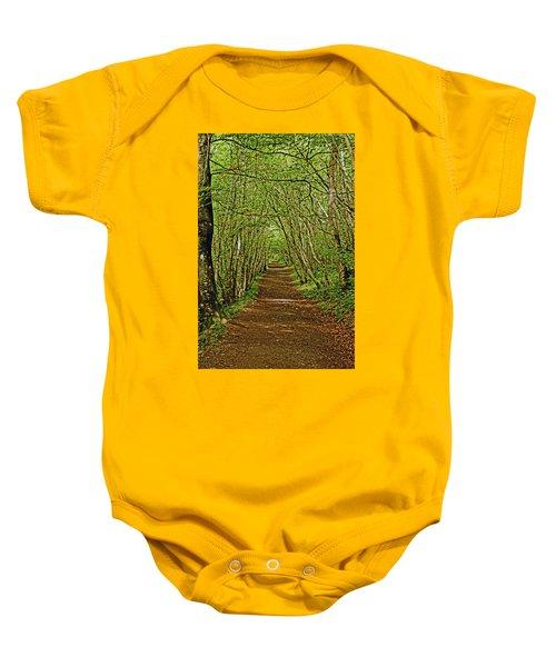 Scotland. Killiecrankie. Path Through The Trees. Baby Onesie