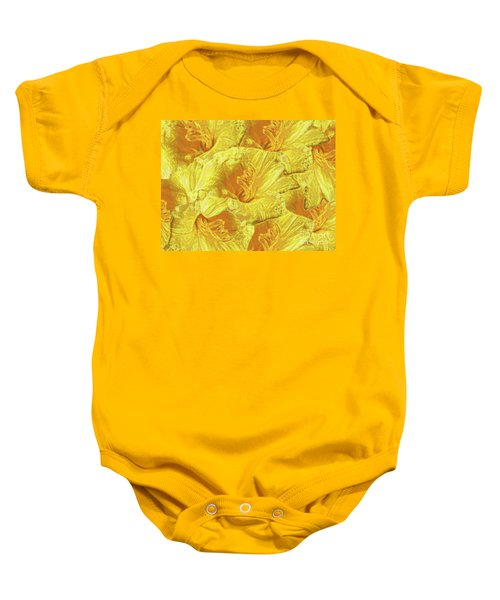 Selective Yellow Lilies Baby Onesie