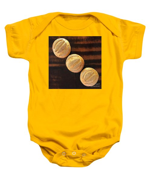 Sesame Seed Stripes 1 Baby Onesie