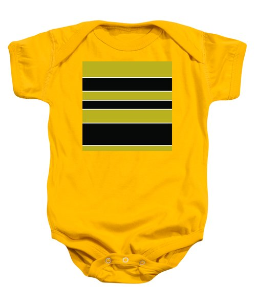 Stacked - Gold, Black And White Baby Onesie