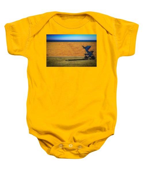 Stroller At The Beach Baby Onesie