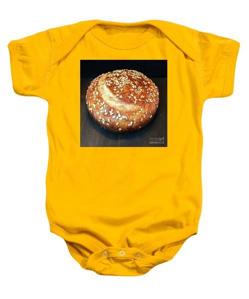 Sunflower Seed Sourdough Baby Onesie