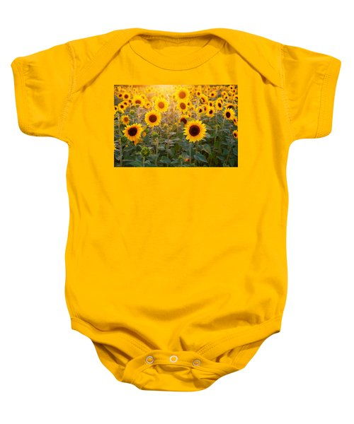 Sunflowers Field Baby Onesie