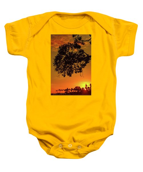 Sunset By The Pier Baby Onesie