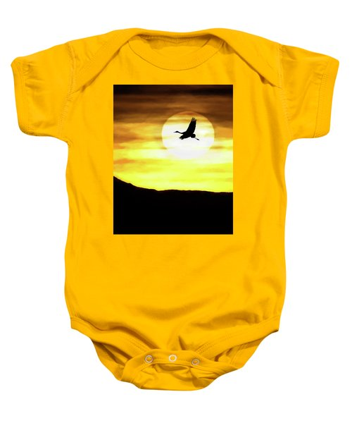 Sunset Flyway Baby Onesie