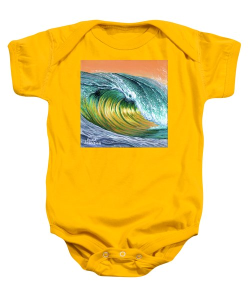 Surf Into The Sunset Baby Onesie