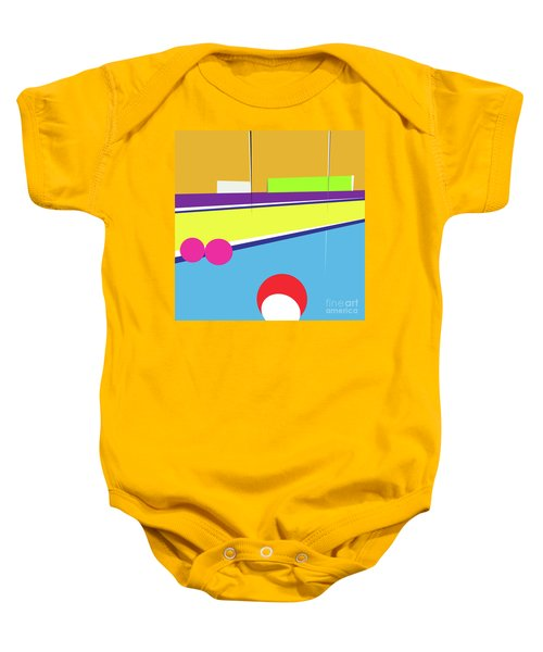 Tennis In Abstraction Baby Onesie