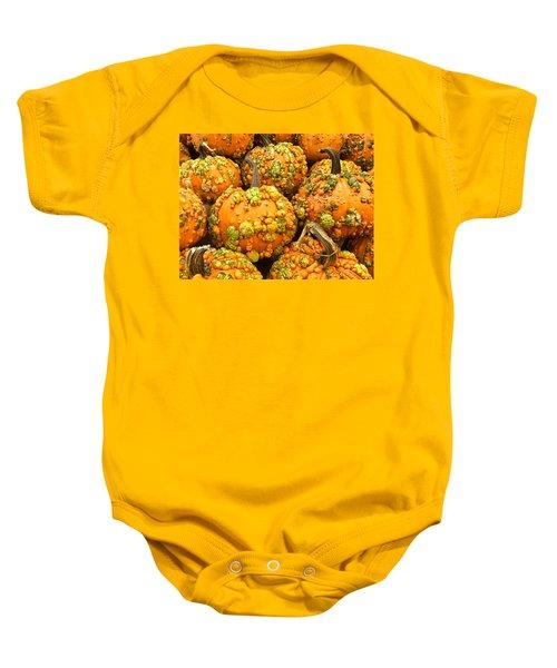 Textured Pumpkins  Baby Onesie