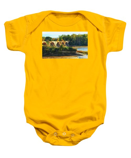The Old Bridge  Baby Onesie