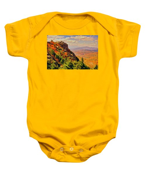 The Summit In Fall Baby Onesie