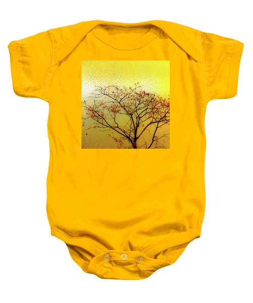 Tree And Water 2 Baby Onesie