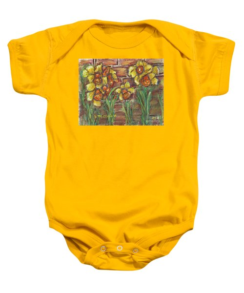 Two Toned Daffodils Baby Onesie