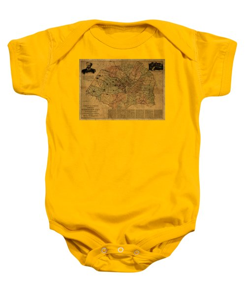 Washington Dc Vintage City Street Map Plan 1891 Baby Onesie