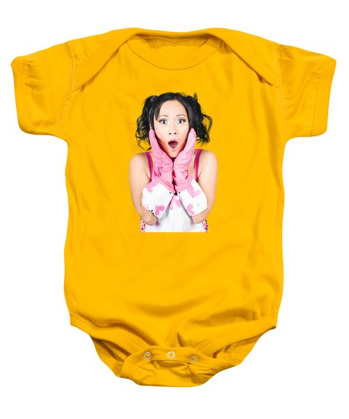 What A Mess Said The Shocked Cleaning Woman Baby Onesie