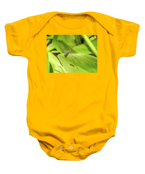 Yellow Australian Tiger Dragonfly Baby Onesie
