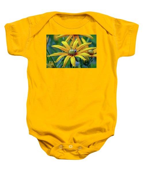 Yellow Flower Baby Onesie