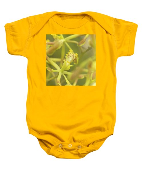 Yellow Orchid Baby Onesie