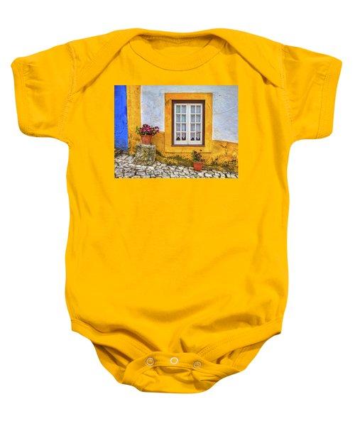 Yellow Window Of Obidos Baby Onesie