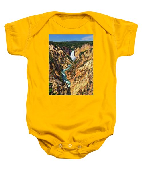 Yellowstone Grand Canyon From Artist Point Baby Onesie