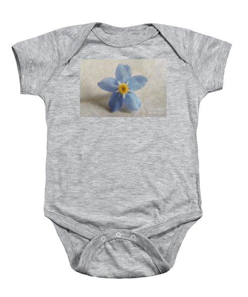 Myosotis 'forget-me-not'- Single Flower Baby Onesie