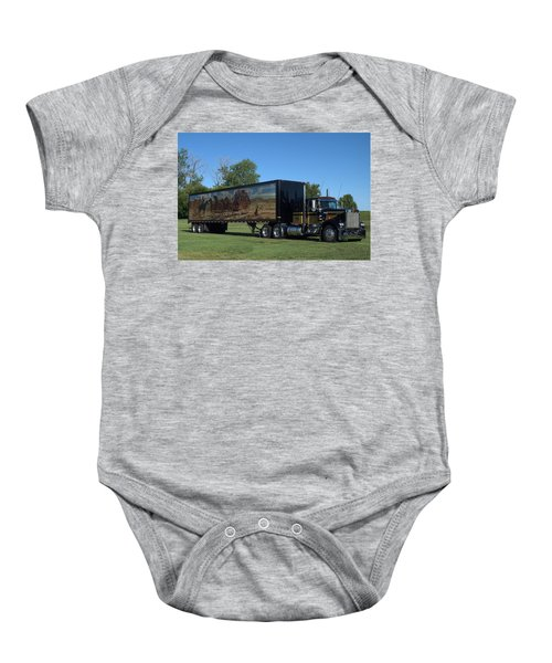 Smokey And The Bandit Tribute 1973 Kenworth W900 Black And Gold Semi Truck Baby Onesie