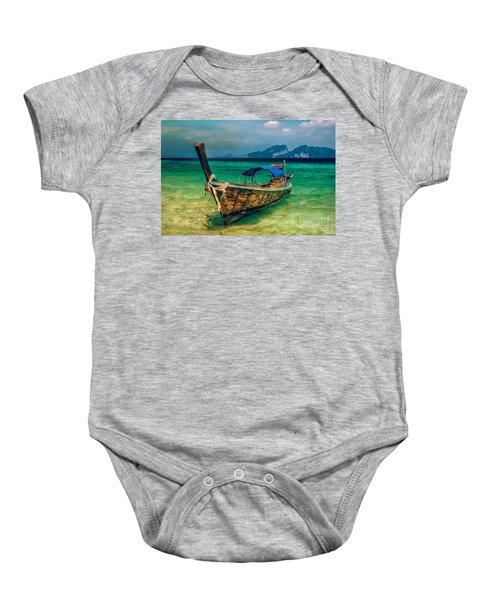 Asian Longboat Baby Onesie