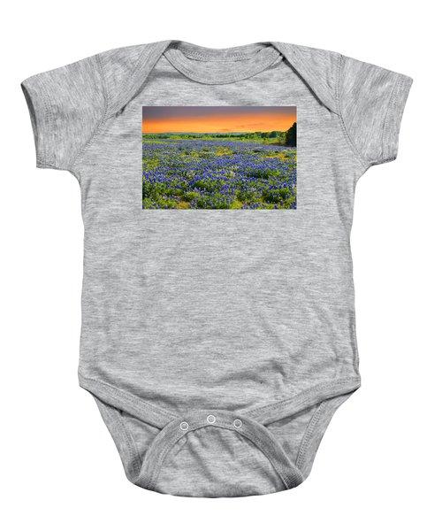 Bluebonnet Sunset  Baby Onesie