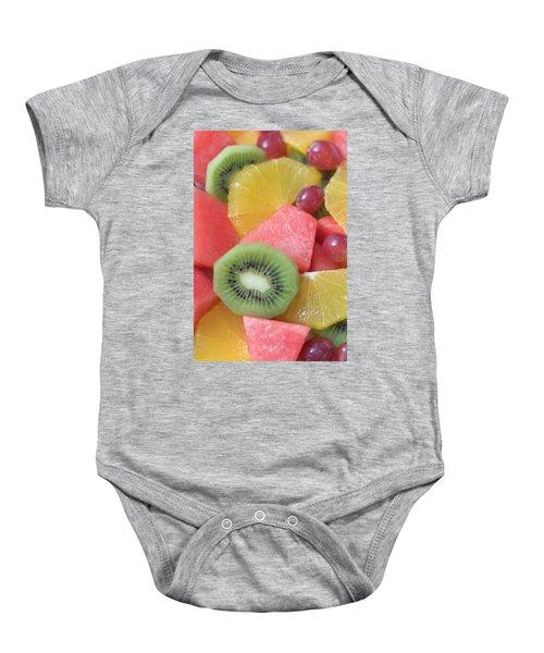 Colourful Fruit Salad (full-frame) Baby Onesie