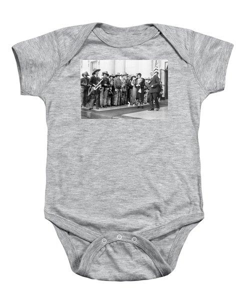 Cowboy Band, 1929 Baby Onesie by Granger