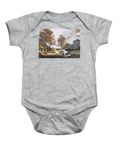 Crofters Cottages Baby Onesie