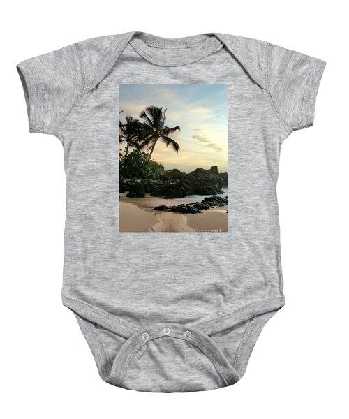 Edge Of The Sea Baby Onesie by Sharon Mau