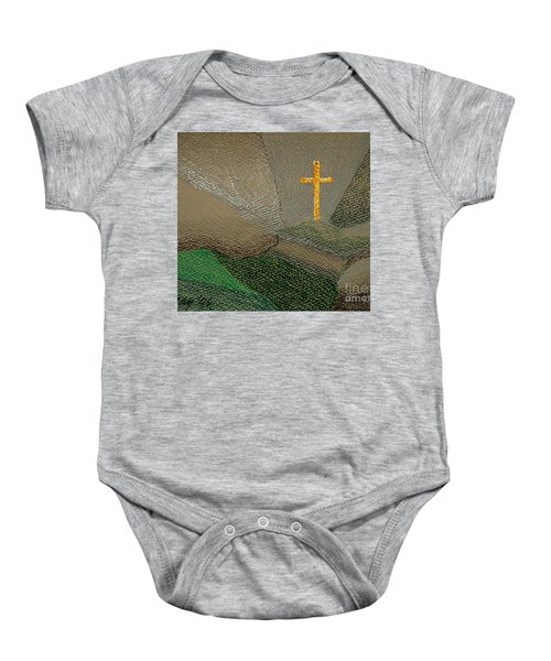 Depression And The Saviour Baby Onesie by Rod Ismay