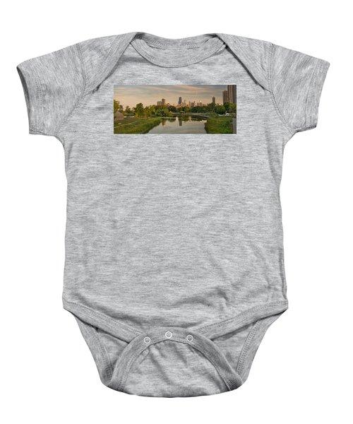 Lincoln Park Lagoon Chicago Baby Onesie