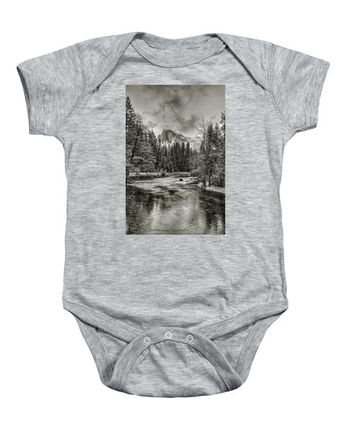 Ascending Clouds Toned Baby Onesie